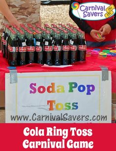 Cola Ring Toss - fast & easy carnival game - great for school carnivals and fundraising carnivals too!