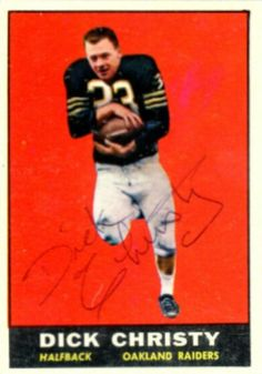 1961 Topps Dick Christy Football autographed trading card