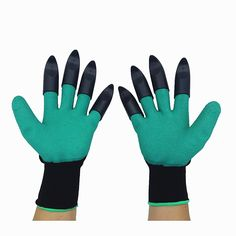 Tools Protective Gears 1 Pair Garden Digging Gloves With 4 Right Hand Fingertips Sharp+fork Claws Making Things Convenient For The People