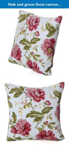 Pink and green floral canvas pillow case decor adds intricate design to solid-colored bedding or pillows. Package included: 1 pcs X pillow cases ( not include pillow inner) Specifications: Wonderful flower pattern can give you good mood. Durable and environmentally friendly material,easy to clean. Perfect for decorating your room in a simple and natural way. Notice: 1. Please allow 1-3mm error due to manual measurement. 2. The colors may have different as the difference display, pls...
