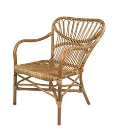 Bring distinctive Nordic design to the home with this Martha rattan chair from Broste Copenhagen. Made from rattan vines that grow in Southeast Asia, it features a wide back with two curved arm rests. Pool Chairs, Wicker Chairs, Outdoor Chairs, Small Furniture, Wicker Furniture, Contemporary Chairs, Modern Chairs, Modern Armchair, Folding Garden Chairs