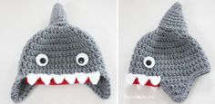 Grandmother's Pattern Book » Crochet Animal Hats – free patterns   http://www.repeatcrafterme.com/2013/08/crochet-shark-hat-pattern.html?m=1