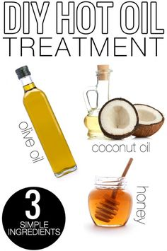 Natural Hot Oil Hair Treatment DIY All Natural Hot Oil Hair Treatment. Very easy, and only 3 simple ingredients.DIY All Natural Hot Oil Hair Treatment. Very easy, and only 3 simple ingredients. Natural Hair Tips, Natural Hair Styles, Natural Oil, Moisturizing Hair Mask, Diy Hair Moisturizer, Oil Treatment For Hair, Coconut Hair Treatment, Natural Hair Treatments, Diy Hairstyles