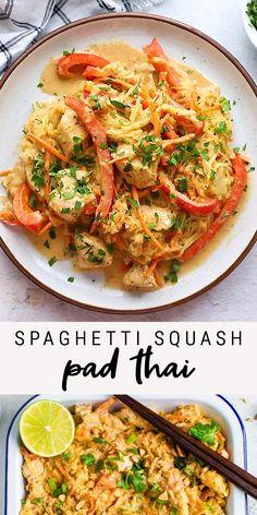 Heart Healthy Recipes, Healthy Dinner Recipes, Vegetarian Recipes, Healthy Spaghetti Recipe, Veggie Heavy Recipes, Pumpkin Dinner Recipes, Thai Curry Recipes, Healthy Pasta Dishes, Snacks Recipes