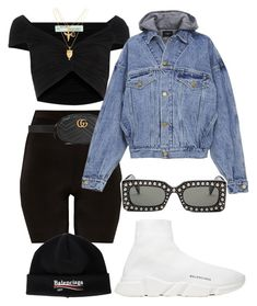 """Untitled #1969"" by xopis0n ❤ liked on Polyvore featuring Balenciaga, Off-White, Gucci and Fear of God"