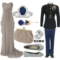 """""""USMC ball"""" by sunflower09 on Polyvore"""