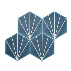 Buy Palm Springs Blue tiles from Porcelain Superstore. Visit our website for great deals on porcelain tiles all with 5 year guarantee. Hexagon Tile Bathroom, Hexagon Tiles, Bathroom Colors, Bathroom Ideas, Upstairs Bathrooms, Dream Bathrooms, House By The Sea, Blue Tiles, Decorative Tile