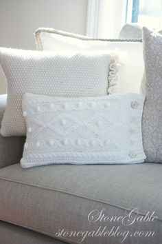 Great idea for old sweaters....pillows!
