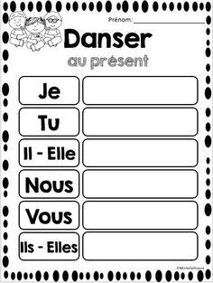 GRATUIT!!!  Les verbes au présent Les élèves peuvent pratiquer la conjugaison des verbes au présent à l'aide de ces pages gratuites.