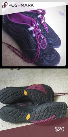 Gym shoes Black and purple Merrell running shoes Merrell Shoes Athletic Shoes
