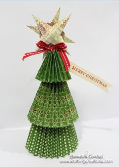 How cute would it be to have one of these lovely little Christmas trees as name place cards at your next holiday party? Christmas Names, Handmade Christmas Tree, Little Christmas Trees, All Things Christmas, Christmas Holidays, Christmas Decorations, Christmas Ornaments, Christmas Ideas, Holiday Ideas