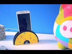 DIY Support de téléphone portable avec perles à repasser Hama - YouTube