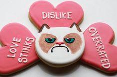 Image result for grumpy cat valentines