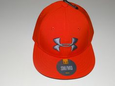 Under Armour Boy's Heat Gear Orange/Gray Youth Baseball Hat/Cap Size: SM/MD #UnderArmour #BaseballCap