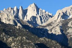 Mt. Whitney, California, the highest peak in contiguous US at 14, 494 ft.