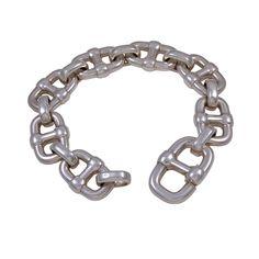 1stdibs.com   HERMES Silver XL Chaine D'Anchre Braceet