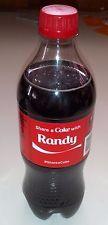 Share A Coke With RANDY New 20 oz Plastic Bottle ^ Sealed Coca Cola Rare