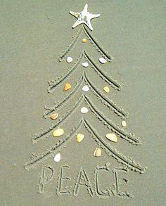 Sand Drawing Christmas Tree Idea