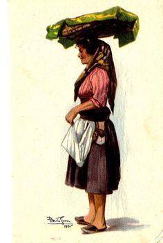 Lisbon street seller.