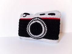 Crochet Camera Pillow. $50,00, via Etsy.