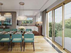projekt domu M176b Nowe możliwości - wariant II - Murator projekty Divider, Room, Furniture, Home Decor, Living Room, Bedroom, Decoration Home, Room Decor, Rooms