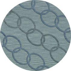 Dalyn Rug Co. Bella Blue Blue Area Rug Rug Size: Round 8'