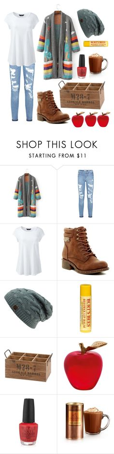 """""""Apple Pickin'"""" by browneyedbeautiful ❤ liked on Polyvore featuring Lands' End, Rock & Candy, Burt's Bees, Benzara, Daum, OPI, Godiva and plus size clothing"""