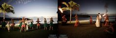 intercontinental fiji wedding - traditional Fijian entertainment on Navo lawn- sunset