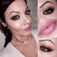 Neutral smokey eye  MAC lipstick Please Me   Instagram Lizbeth_belovedmua