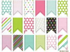 Colorful Clipart Ribbon Tags Instant Download Commercial Use Graphics Pink Green…