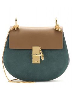 #chloe - drew leather and suede shoulder bag