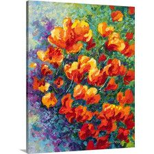 California Poppies by Marion Rose Painting Print on Wrapped Canvas