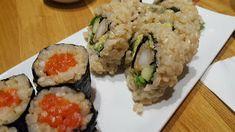 Shizen Ya Vancouver - Salmon Nigri and Dynamite Roll Vancouver Food, Delicious Restaurant, Sushi Restaurants, Salmon, Rolls, Tasty, Ethnic Recipes, Buns, Bread Rolls