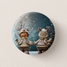 Snow Button - animal gift ideas animals and pets diy customize
