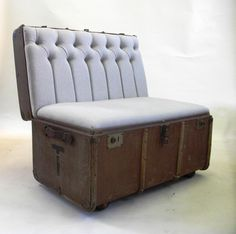Turning one mindless mo-ron's trash into a chair by hind-quarters declares a must have. This awesome piece was created by Katie Thompson. I'll put up her site on the Site Stalking board so that you can all drool over how awesome her work is. You know you want to...