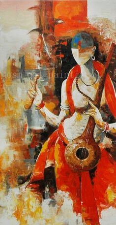 High Quality Handmade Calligraphy Modern Abstract Hindu Deity Portrait Oil Painting on Canvas Hand Painted Wall Famous Artists Paintings, Indian Art Paintings, Modern Art Paintings, Buddha Painting, Oil Painting On Canvas, Canvas Art, Indian Contemporary Art, Spiritual Paintings, Figurative Kunst