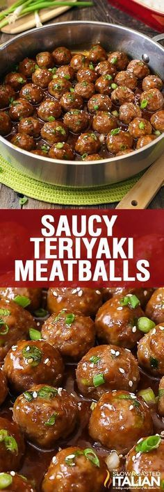 Saucy Teriyaki #Meatballs are bursting with flavor in an easy recipe that comes together with just a few ingredients. The whole family is going to love 'em. Simple recipe, awesome meatballs!