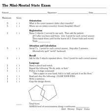 mental status exam outline