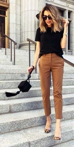 97 Best and Stylish Business Casual Work Outfit for Women - Summer Work Outfits Mode Outfits, Fashion Outfits, Fashion Heels, Office Outfits, Office Attire, Fashion Clothes, Dress Fashion, Ladies Outfits, Office Uniform