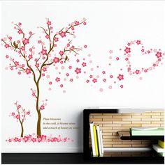 Nice Wandtattoo M dchen Baum Herz pink rosa Blume Sticker Kinderzimmer Wohnzimmer Ast in M bel u Wohnen