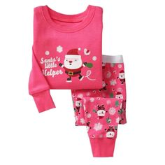 LUKYCILD Baby Girl 2 piece Long Sleeve Christmas Pajama Set. Material:cotton blend and comfortable to wear. For fire safety, These pajamas should fit snugly. Set include:1*Long Sleeve Shirt + 1*Long Pants. Perfect for daily wear,Christmas gift or taking photos. please check the size information in below product description before purchase!.