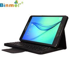 Binmer Mecall Bluetooth Keyboard Leather Case Stand For Samsung Galaxy Tab A 9.7 T550
