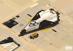 Blackbird Interactive, developers of the excellent Deserts of Kharak, have teamed up with NASA's Jet Propulsion Laboratory to create an interactive tour of a concept Mars base. Concept Ships, Concept Art, Mars Project, Mexico 2018, Starship Concept, Space Fighter, Sci Fi Spaceships, Sci Fi Models, Spaceship Design
