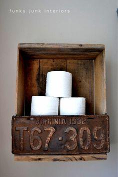 Envie de changement dans votre salle de bain ? Et si on y ajoutait un petit côté rustique ? Une sélection qui devrait vous donner quelques idées......
