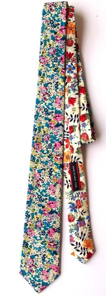 Floral pattern tie by Grahame Fowler -