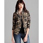BLOOMINGDALES Aqua Jacket - Camo Army Jewel Pocket