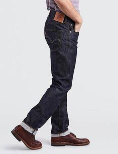 Levi's Vintage 1947 501 Jeans - Rigid on Garmentory Jeans Levis 501, Levis Selvedge, Levis Pants, All Jeans, Denim Jeans Men, Vintage Levis, Vintage Men, Raw Denim, Jeans Style