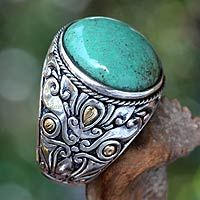 Would like this for the summer  Men's sterling silver ring, 'Taru Tree'