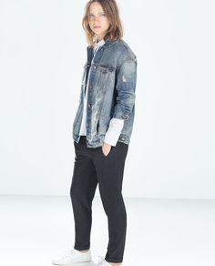 Image 1 of OVERSIZED DENIM JACKET from Zara