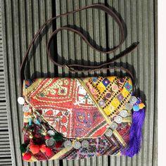 Handgemaakte vintage schoudertas (NIEUW)